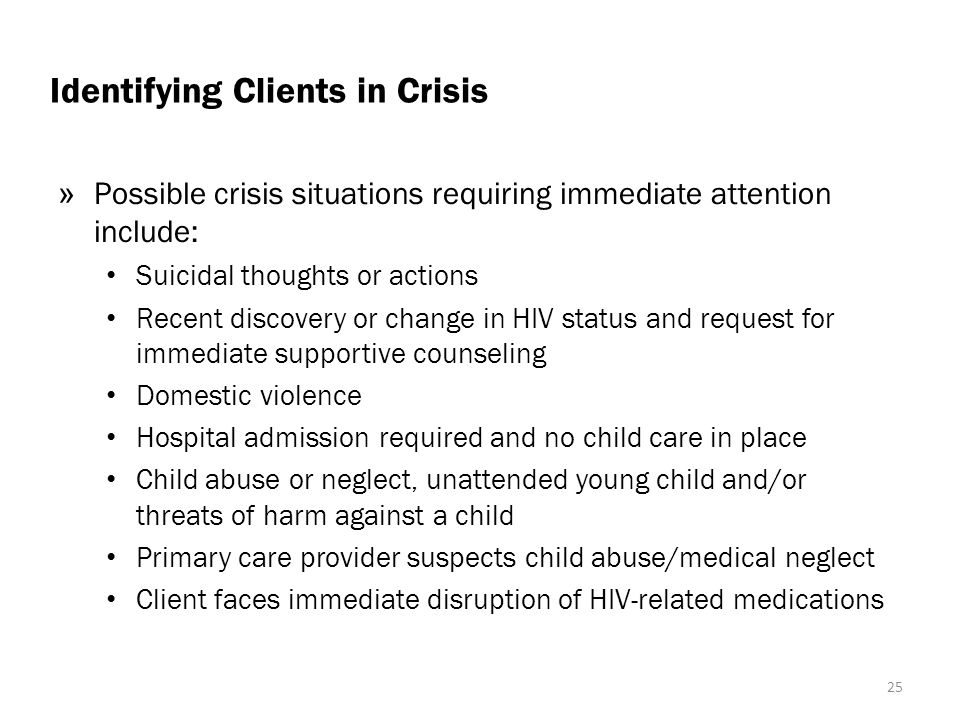 Identifying Clients in Crisis