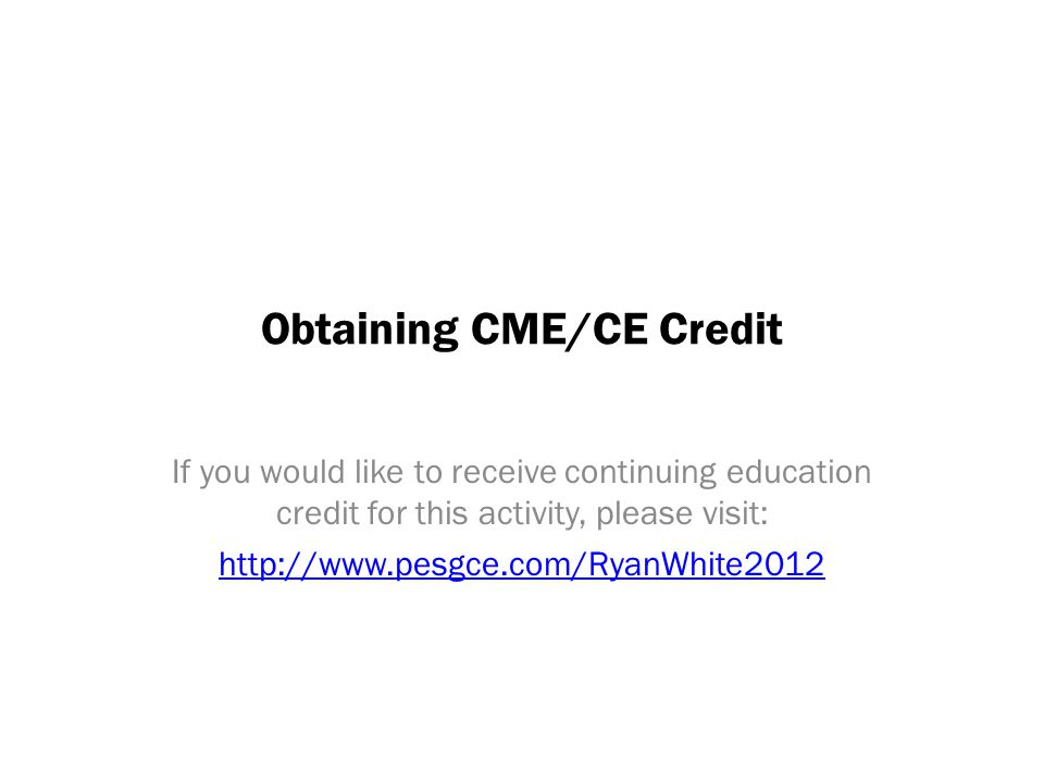 Obtaining CME/CE Credit