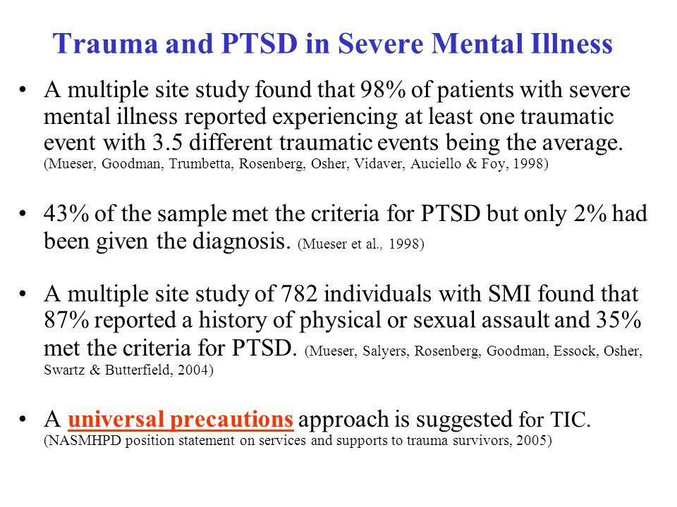 Trauma and PTSD in Severe Mental Illness
