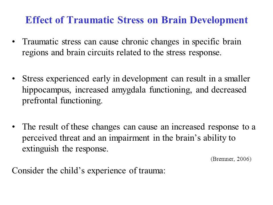 Effect of Traumatic Stress on Brain Development