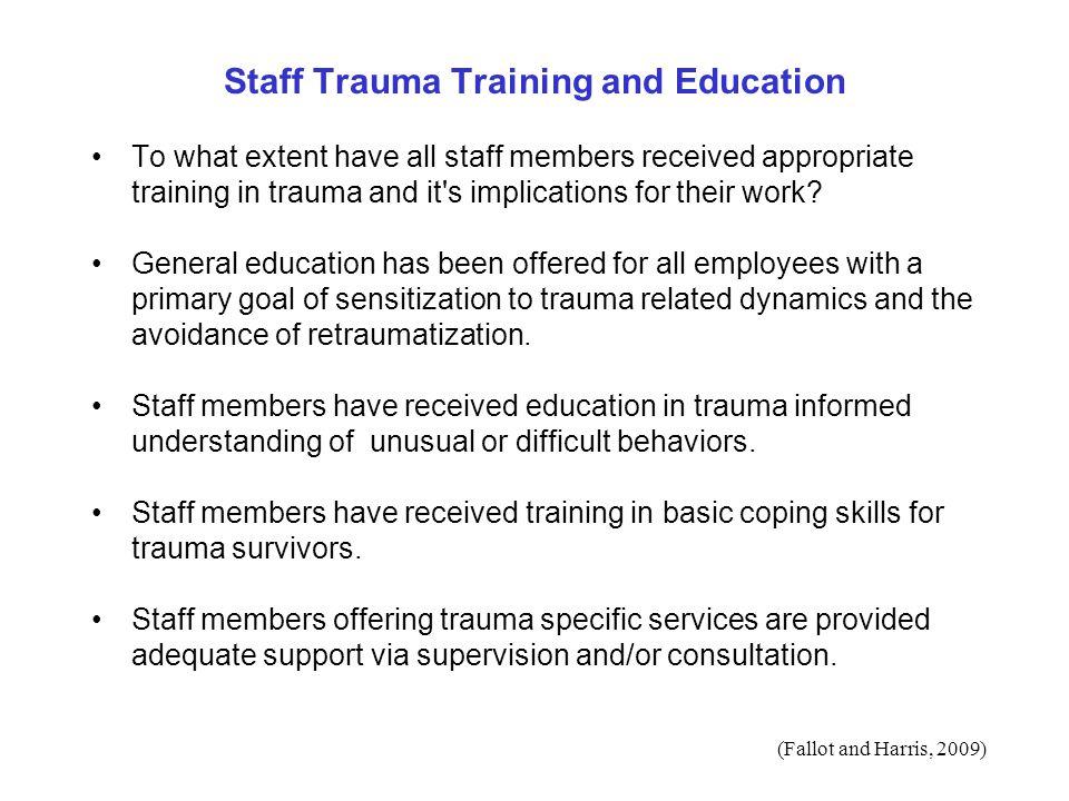 Staff Trauma Training and Education