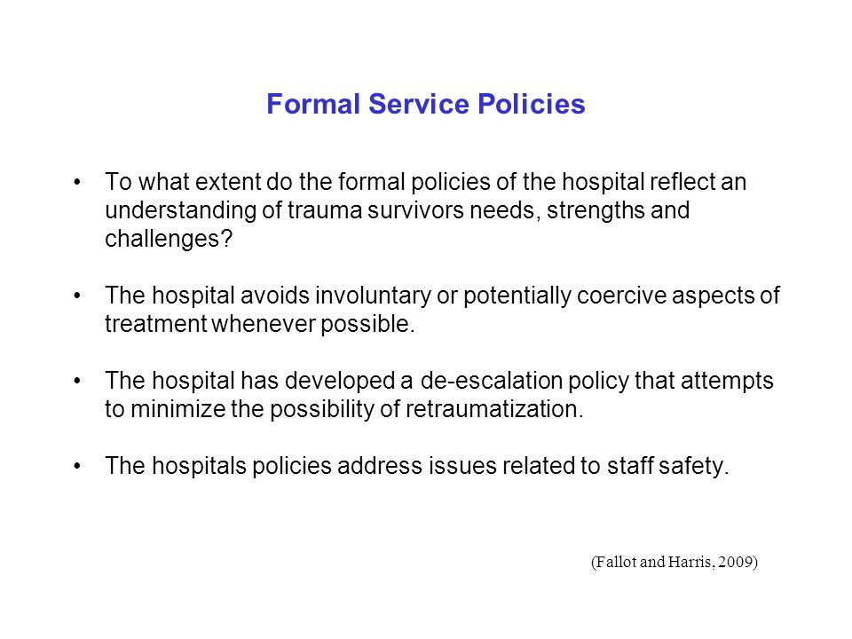 Formal Service Policies