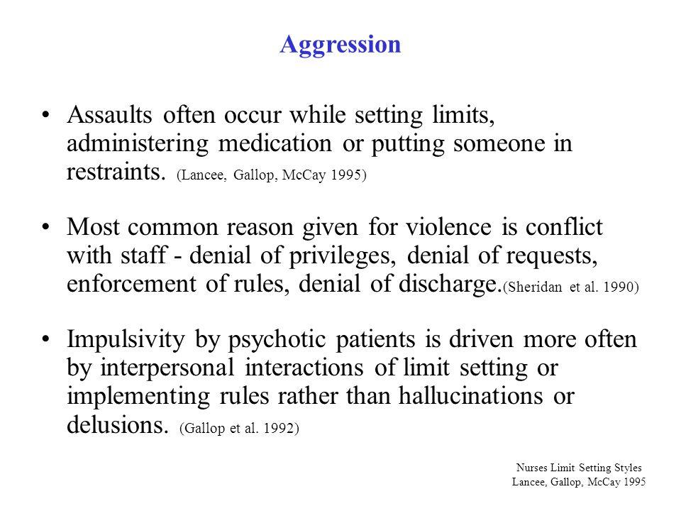 Nurses Limit Setting Styles Lancee, Gallop, McCay 1995