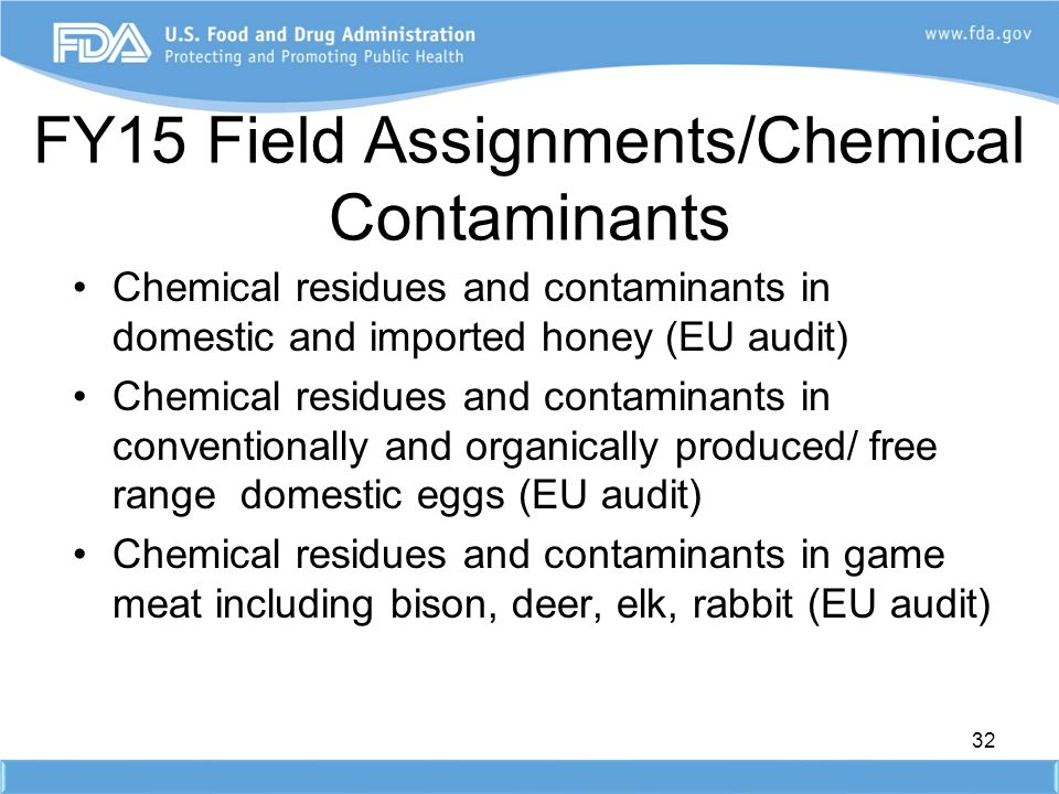 FY15 Field Assignments/Chemical Contaminants