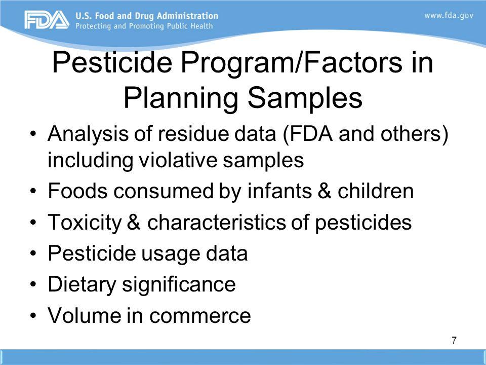 Pesticide Program/Factors in Planning Samples