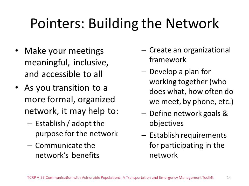 Pointers: Building the Network