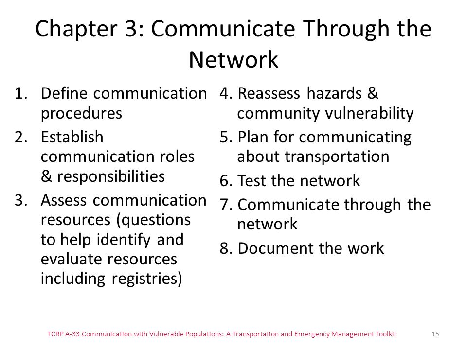 Chapter 3: Communicate Through the Network