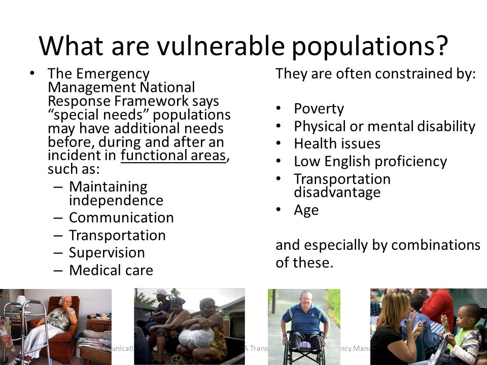 What are vulnerable populations