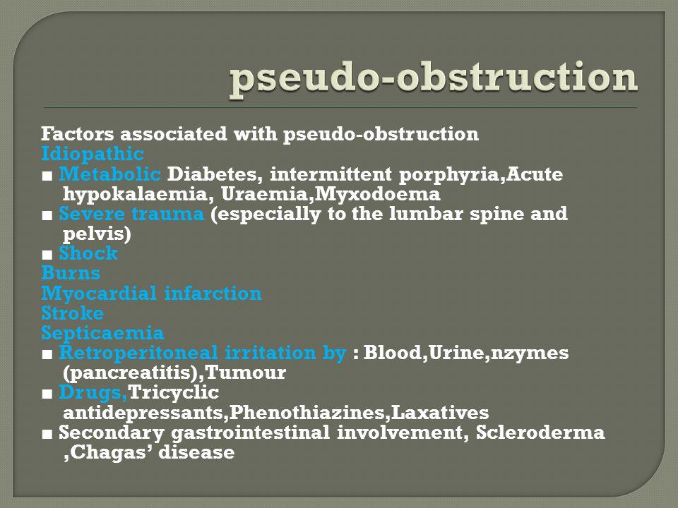 pseudo-obstruction