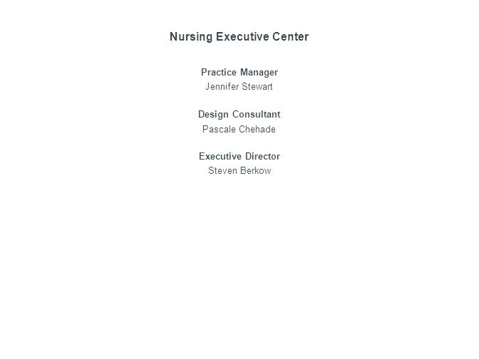 Nursing Executive Center