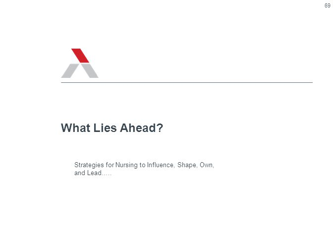 What Lies Ahead Strategies for Nursing to Influence, Shape, Own, and Lead…..