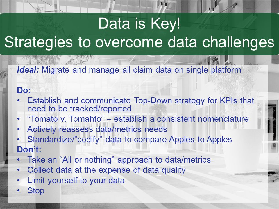 Data is Key! Strategies to overcome data challenges