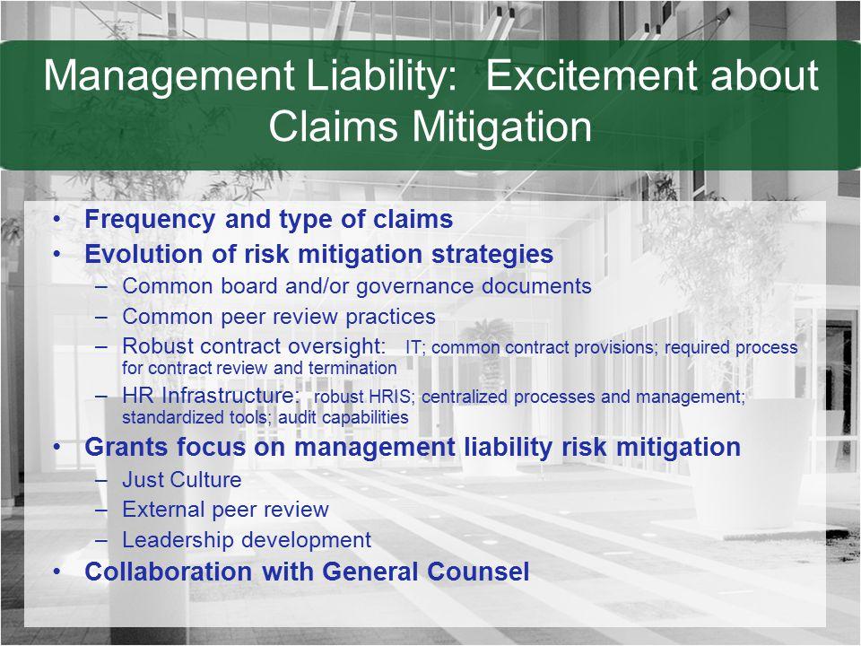 Management Liability: Excitement about Claims Mitigation