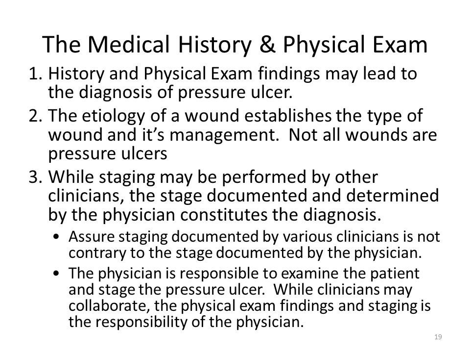 The Medical History & Physical Exam