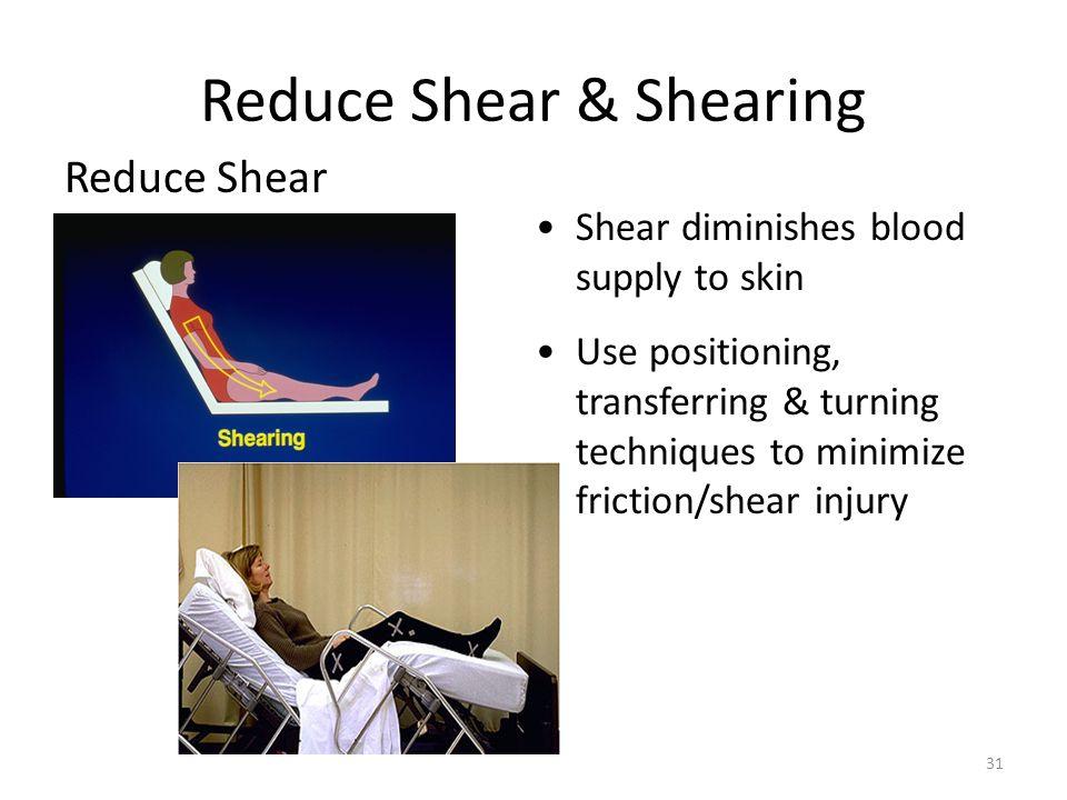 Reduce Shear & Shearing
