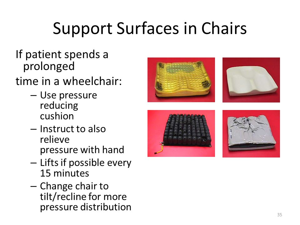 Support Surfaces in Chairs