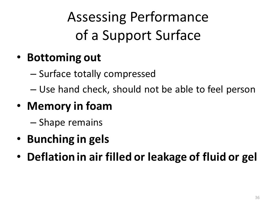 Assessing Performance of a Support Surface