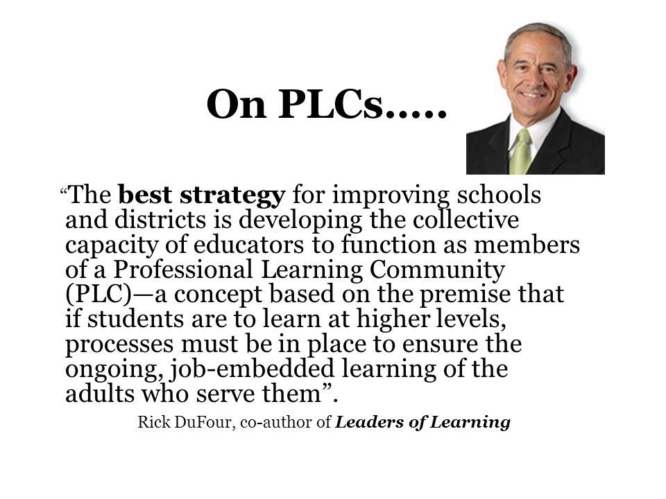On PLCs…..