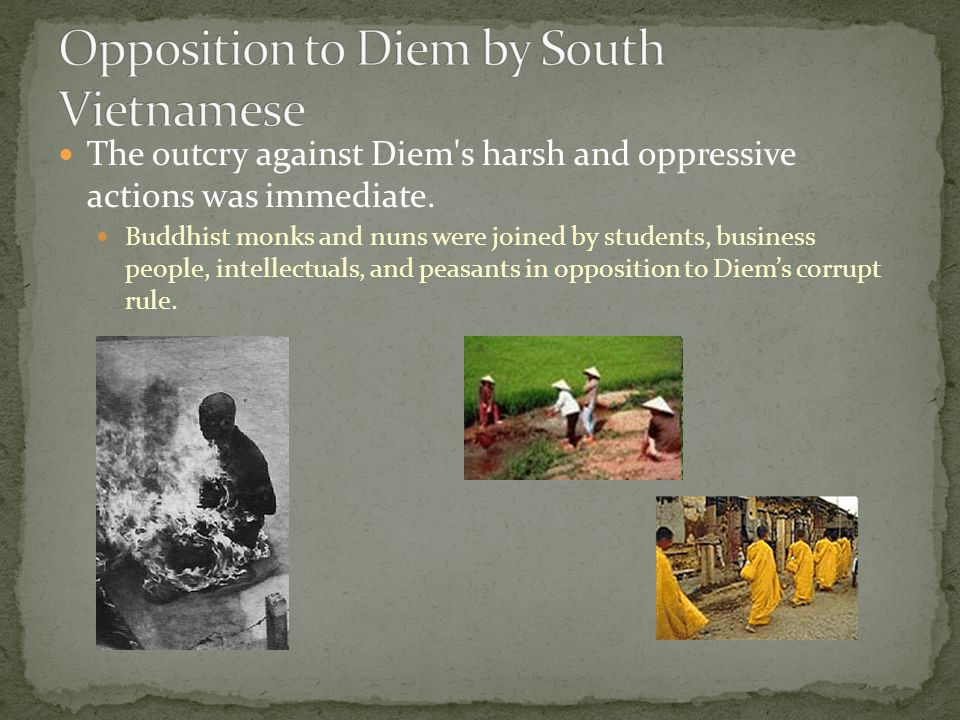 Opposition to Diem by South Vietnamese