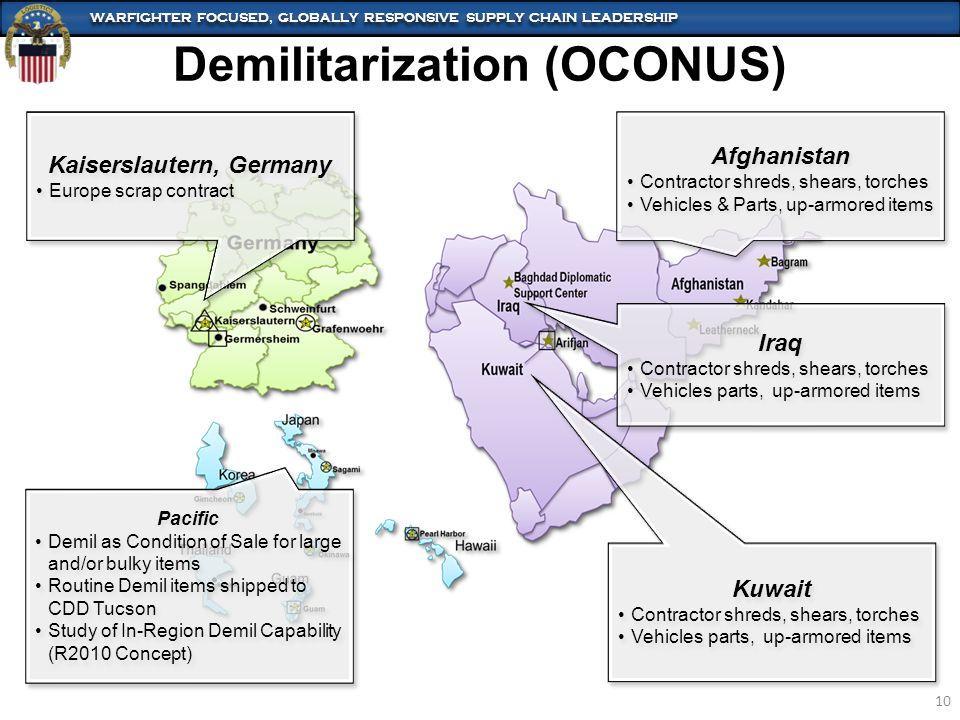 Demilitarization (OCONUS)