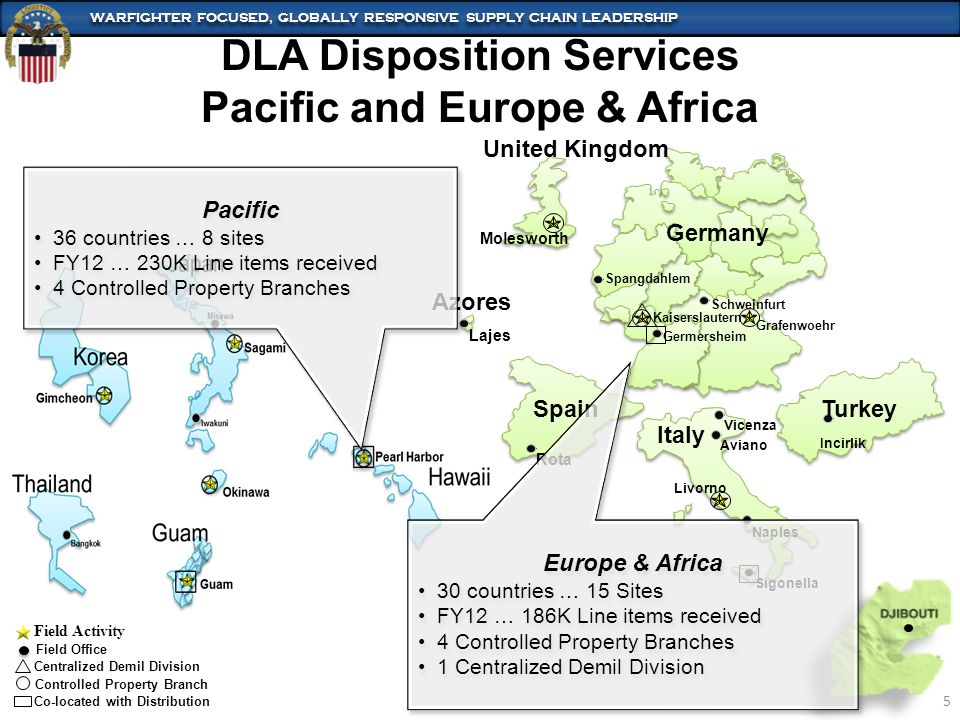 DLA Disposition Services Pacific and Europe & Africa