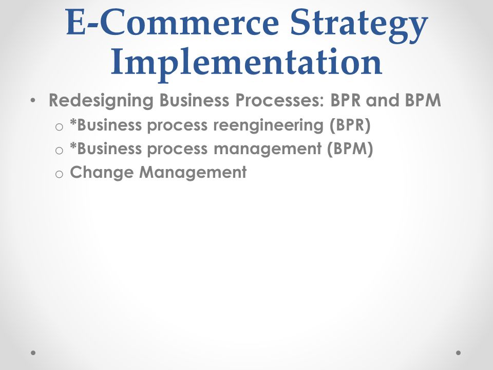 E-Commerce Strategy Implementation