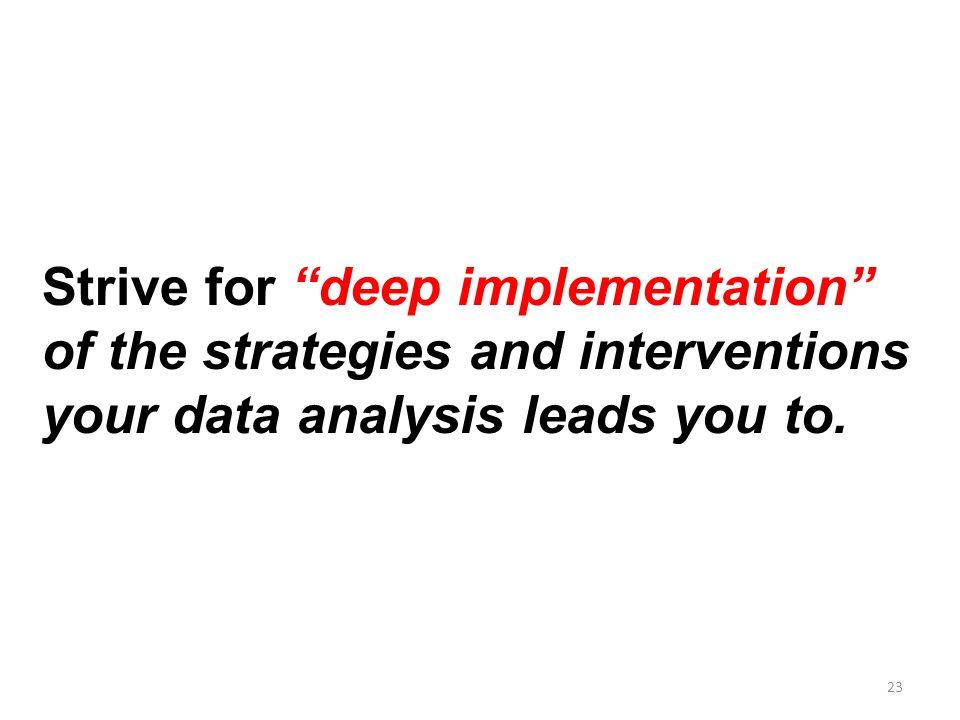 Strive for deep implementation