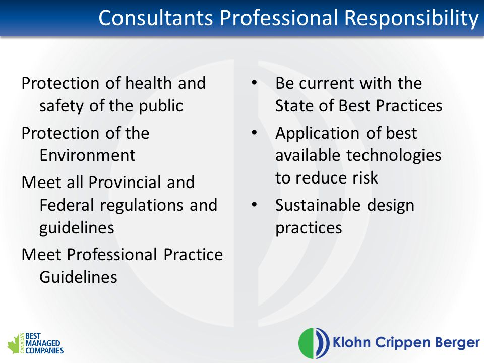 Consultants Professional Responsibility
