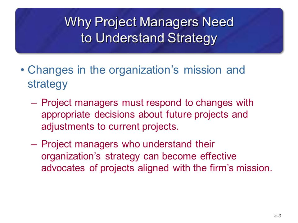 Why Project Managers Need to Understand Strategy