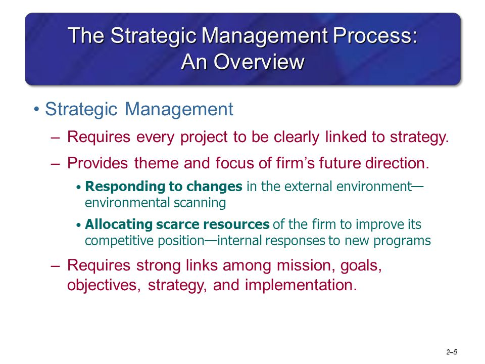 The Strategic Management Process: An Overview