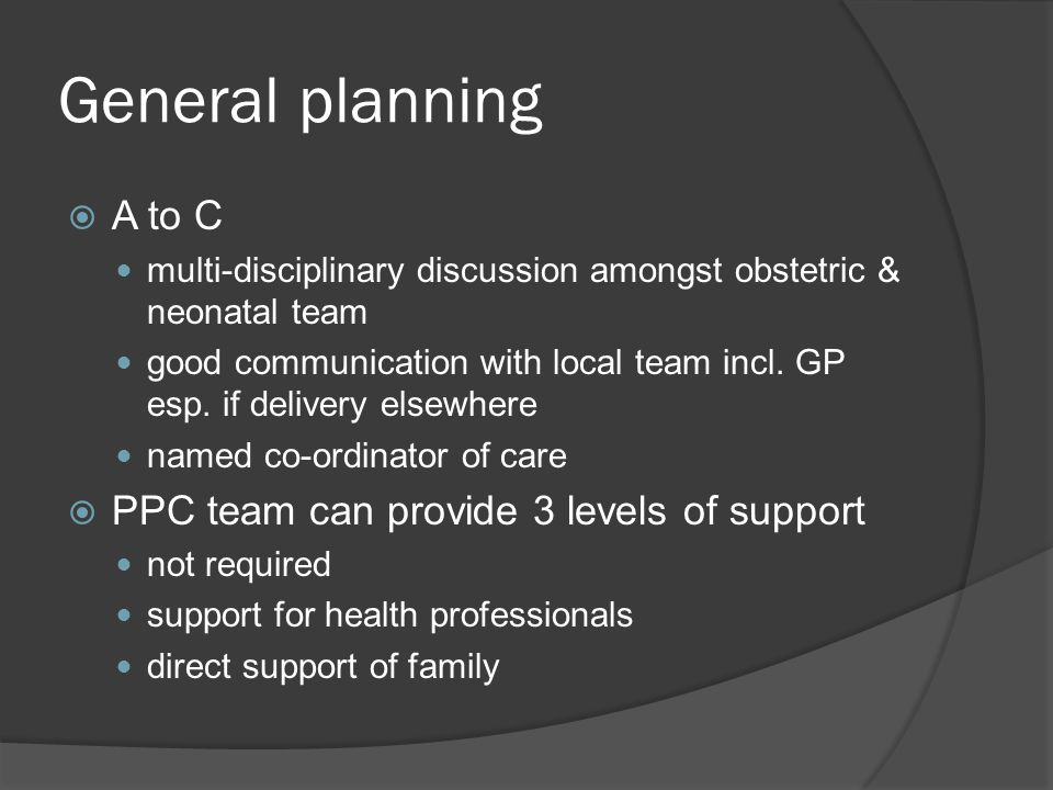 General planning A to C PPC team can provide 3 levels of support