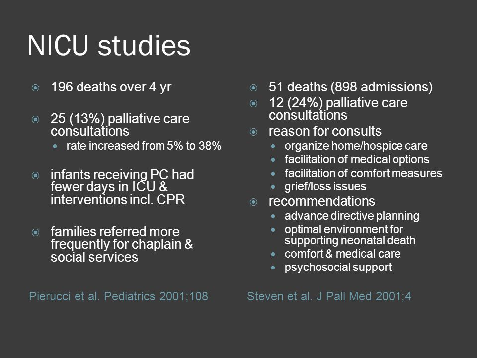 NICU studies 196 deaths over 4 yr