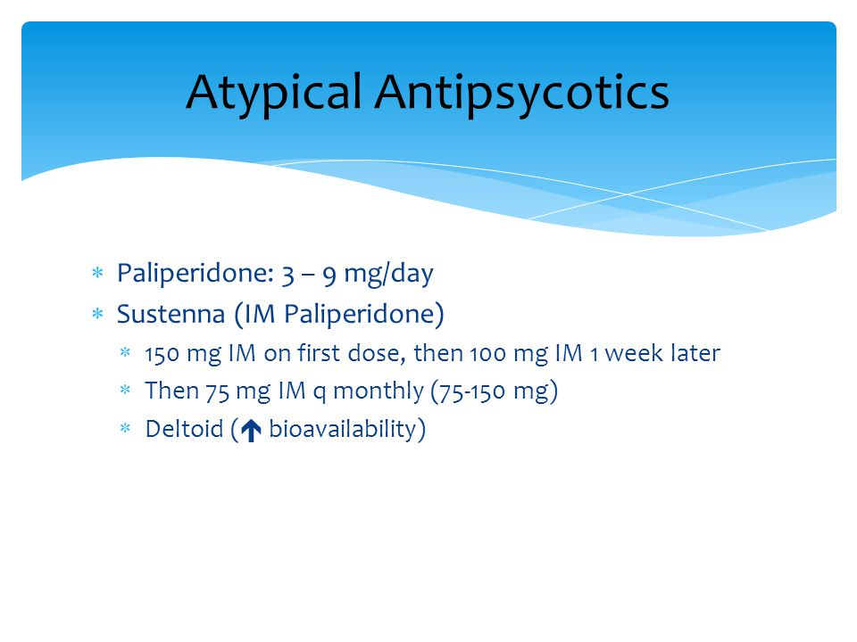 Atypical Antipsycotics