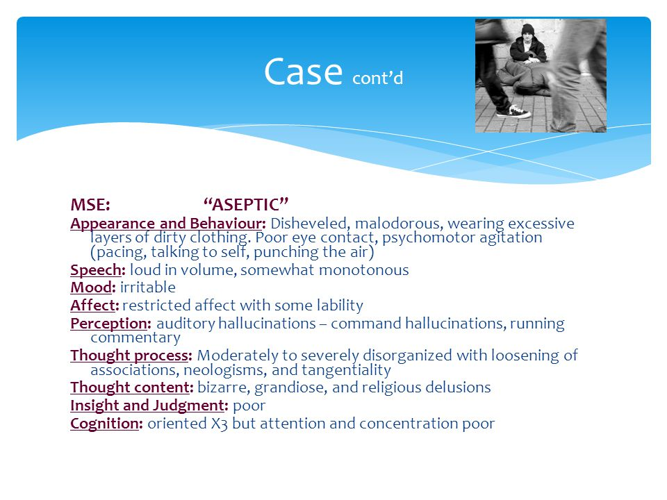 Case cont'd MSE: ASEPTIC