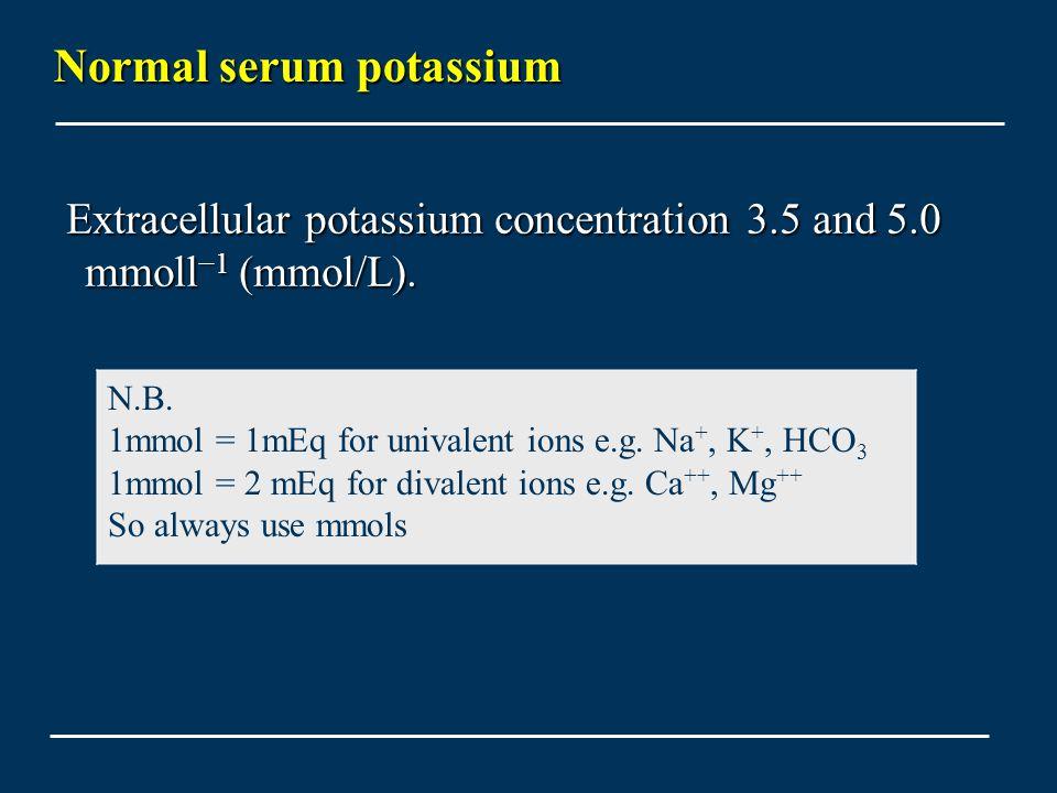 Normal serum potassium