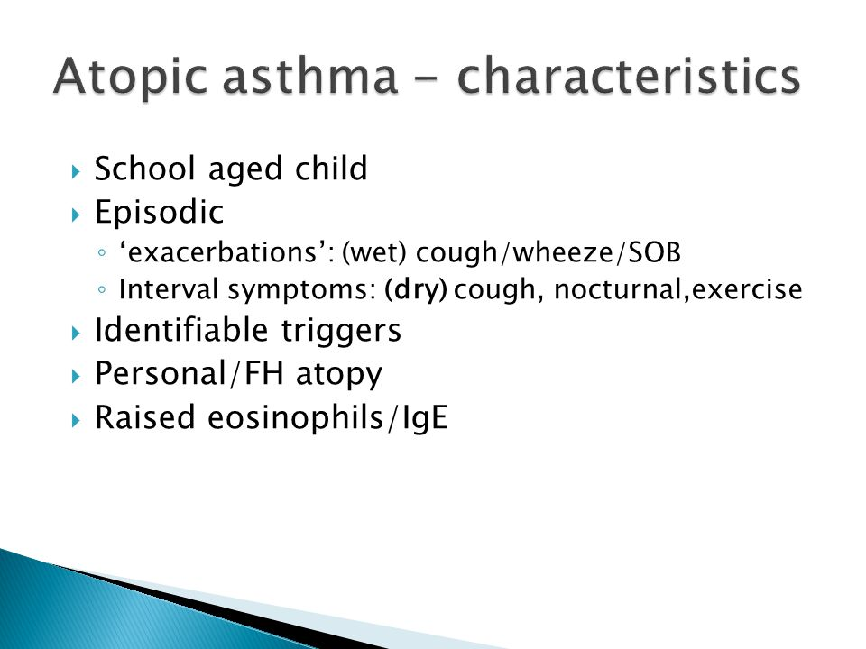 Atopic asthma - characteristics