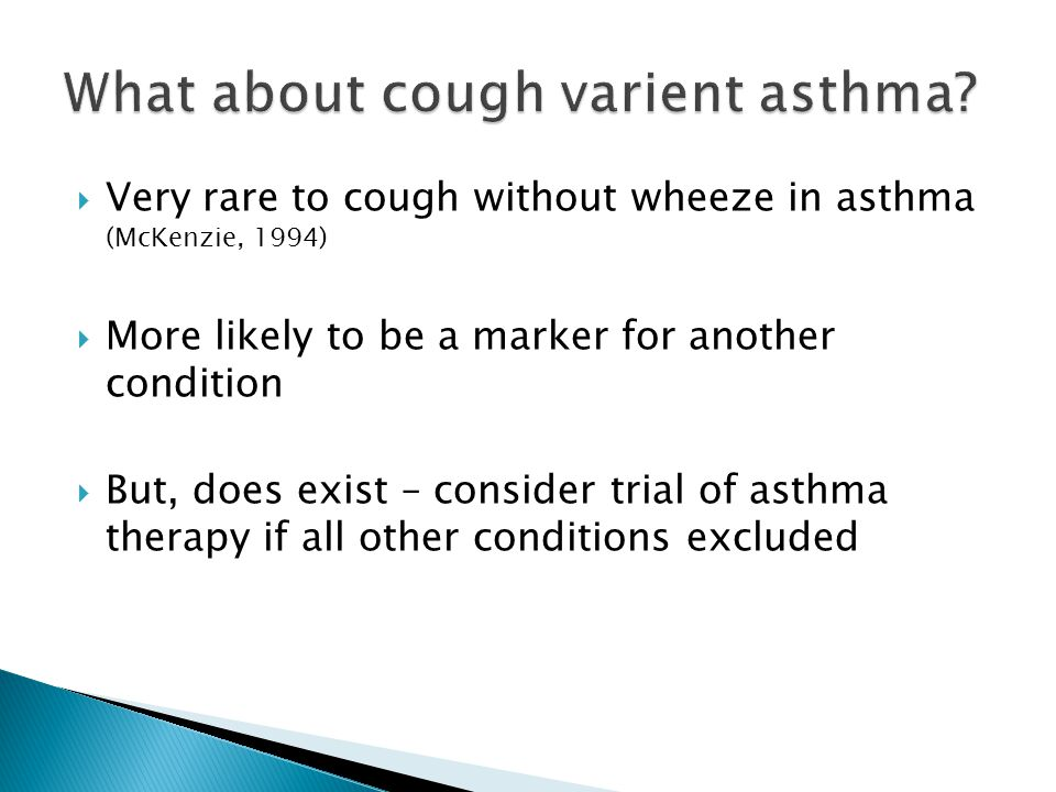 What about cough varient asthma