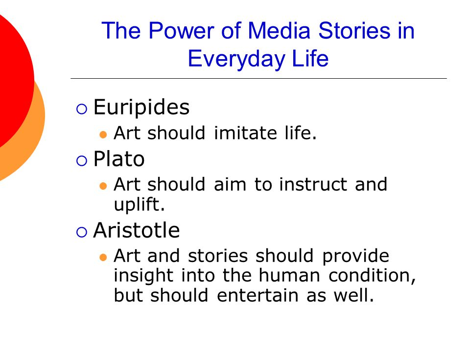 The Power of Media Stories in Everyday Life