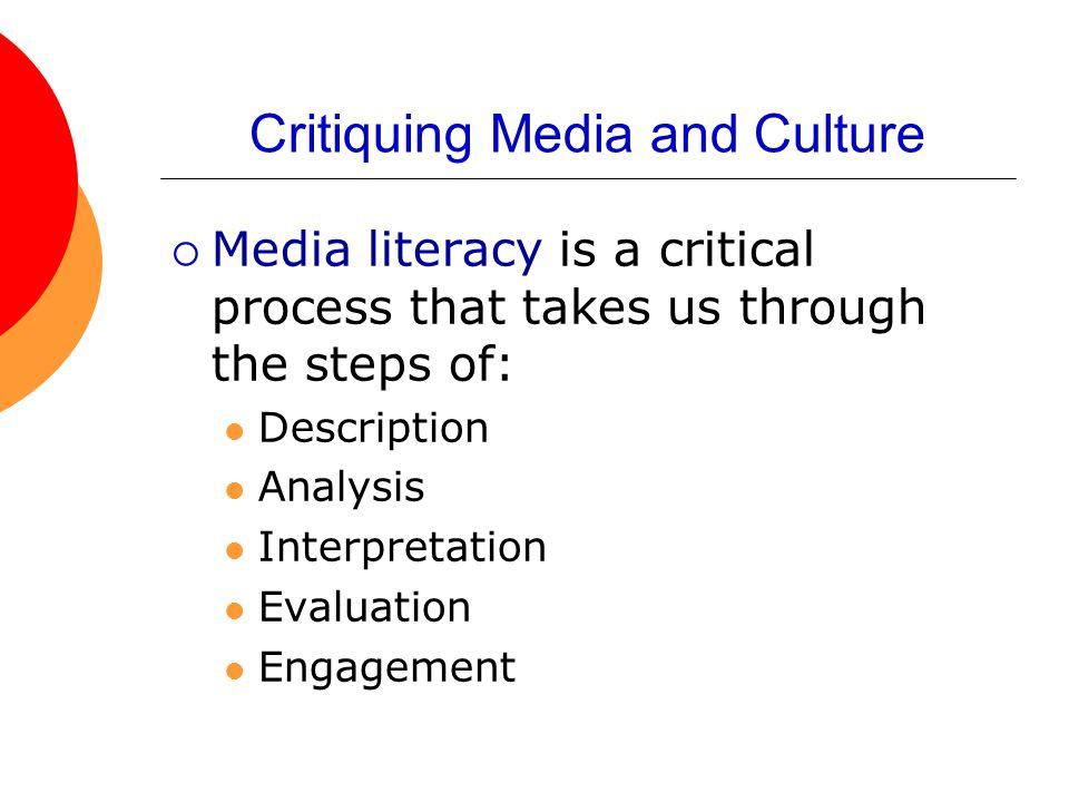 Critiquing Media and Culture