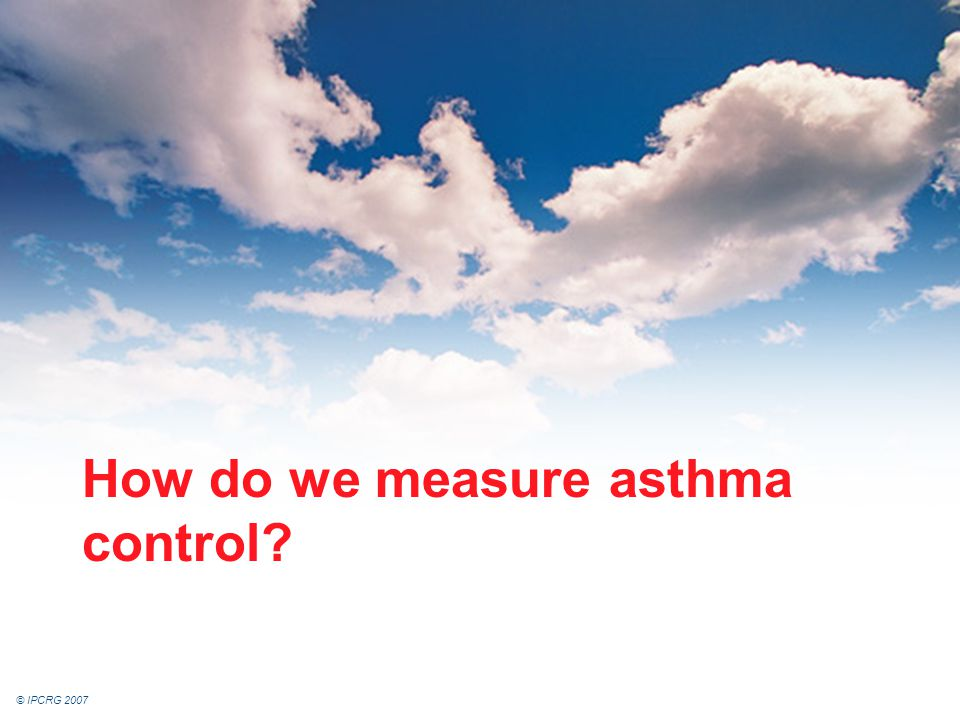 How do we measure asthma control