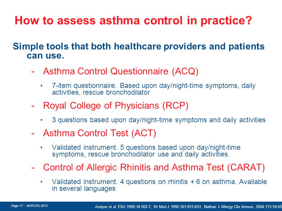 How to assess asthma control in practice