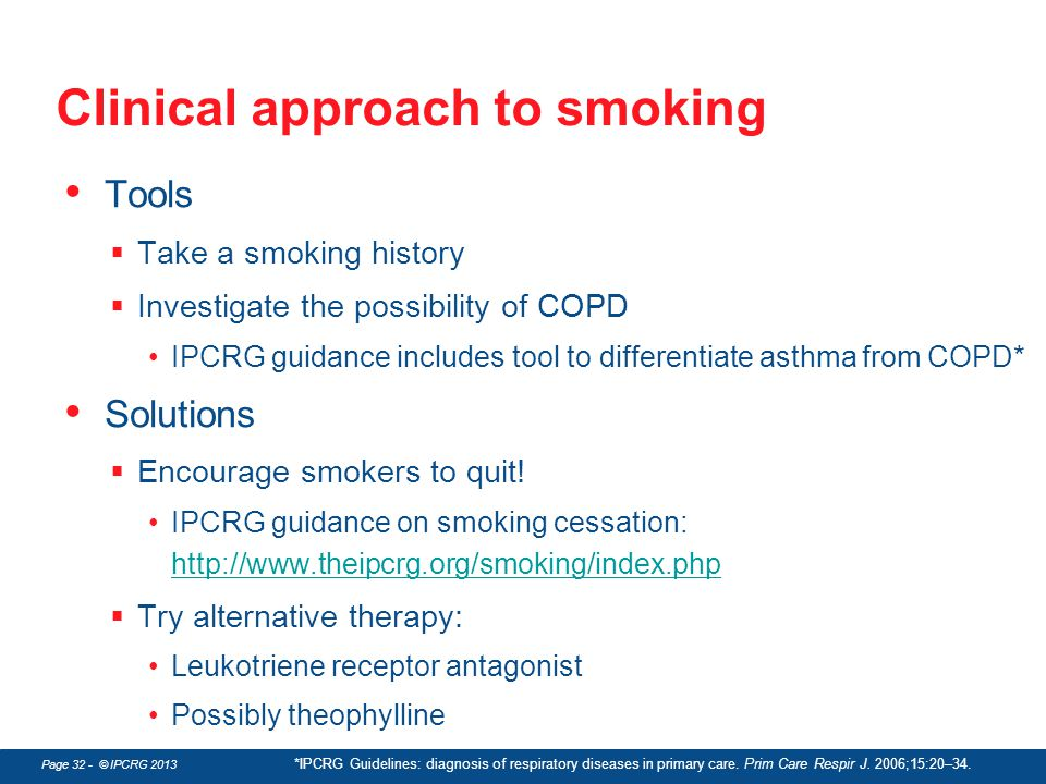 Clinical approach to smoking