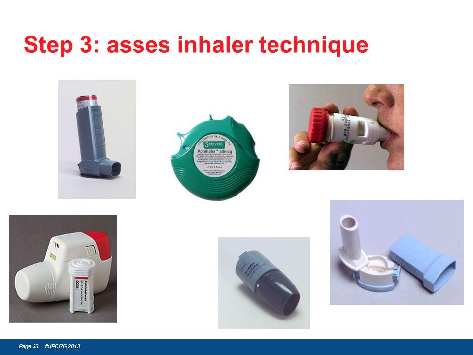 Step 3: asses inhaler technique