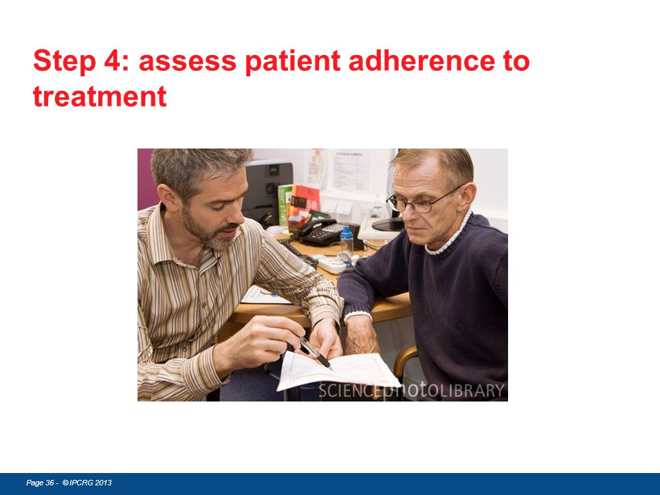 Step 4: assess patient adherence to treatment