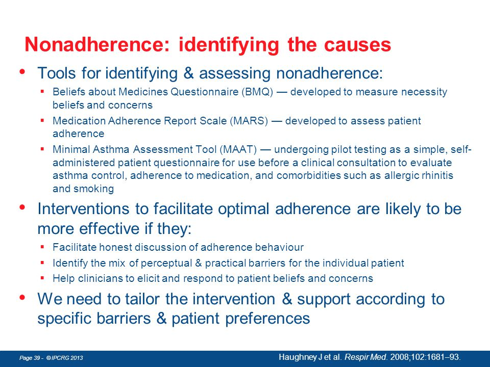 Nonadherence: identifying the causes