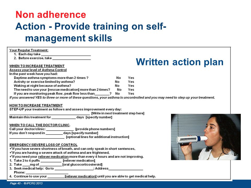 Action - Provide training on self-management skills
