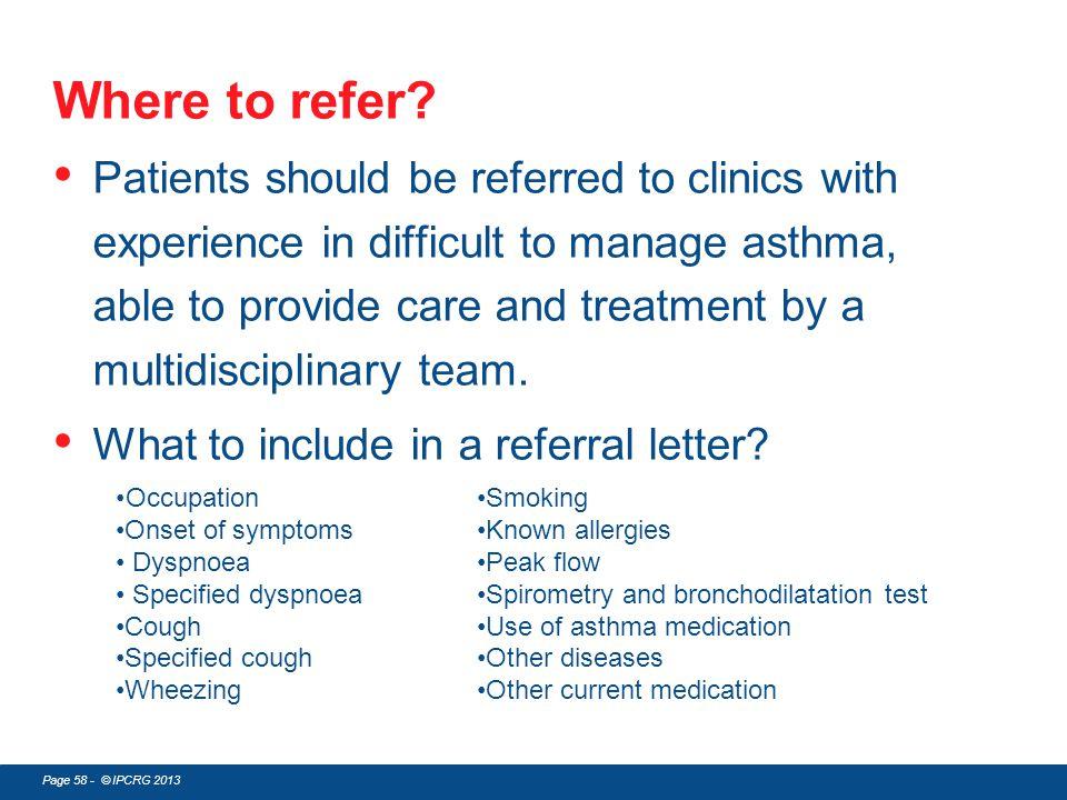 Where to refer