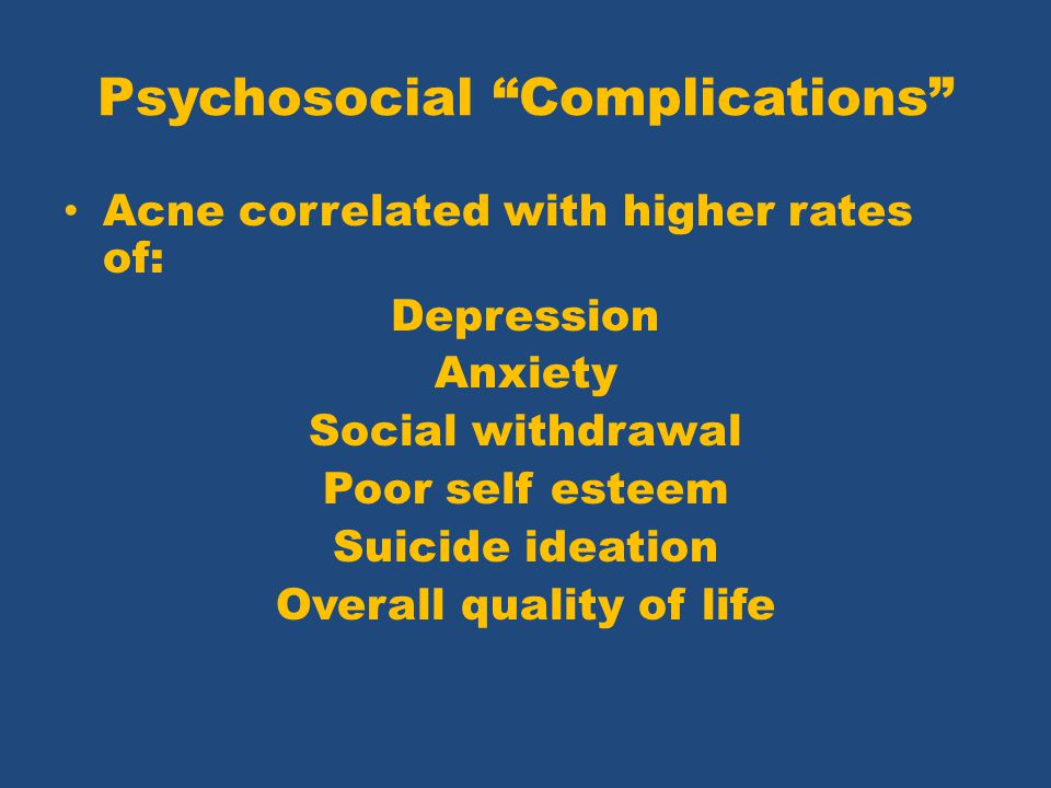 Psychosocial Complications