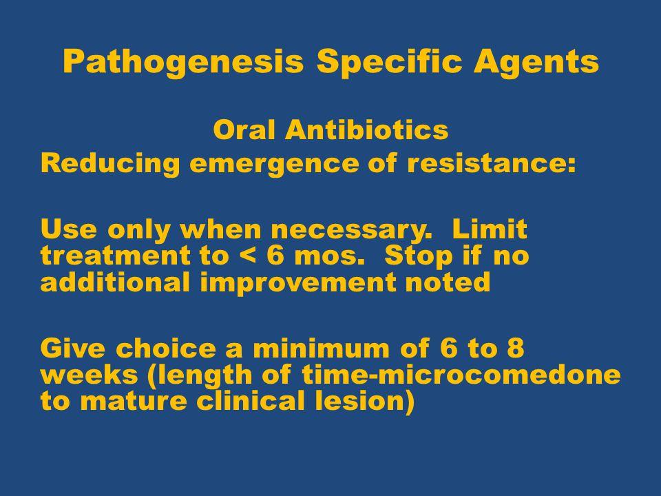 Pathogenesis Specific Agents