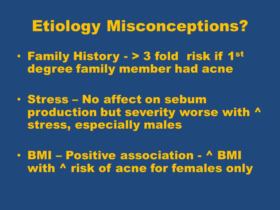 Etiology Misconceptions